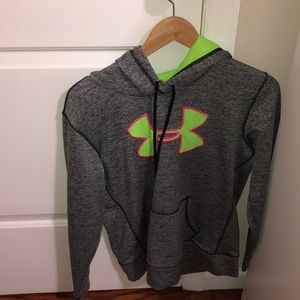 gray with neon colors hoodie
